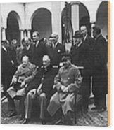 Yalta Conference, 1945 Wood Print