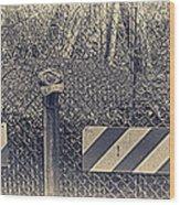 Yankees Cap On The Subway Fence Wood Print