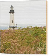 Yaquina Head Lighthouse In Oregon Wood Print by Artist and Photographer Laura Wrede