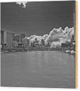 Yarrah River Melbourne In B And W Wood Print
