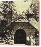Ye Ole Cottage Wood Print