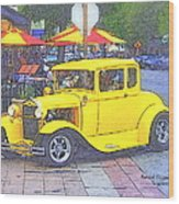 Yellow 1930's Ford Roadster Wood Print