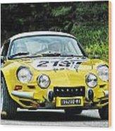 Yellow Alpine Renault Wood Print