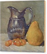Yellow And Orange Wood Print