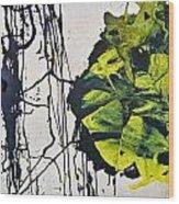 Yellow  Black Wood Print