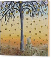 Yellow-blossomed Wishing Tree Wood Print
