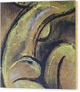Yellow Caryatid - Nudes Gallery Wood Print