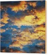 Yellow Clouds Wood Print
