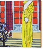 Yellow Coat Wood Print