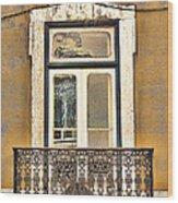 Yellow Facade And Window Wood Print