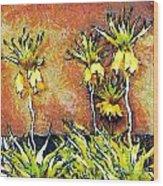 Yellow Flowers Wood Print by Odon Czintos