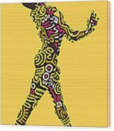 Yellow Haring Wood Print
