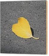 Yellow Heart Wood Print