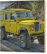 Yellow Jeep Wood Print