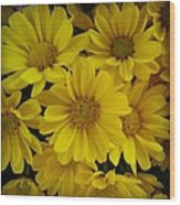 Yellow Love Wood Print by Chasity Johnson