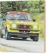 Yellow Opel Wood Print