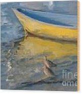Yellow Panga Wood Print