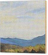 Yellow Ridge Wood Print