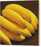 Yellow Ripe Bananas Wood Print