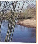 Yellow River 18 Wood Print
