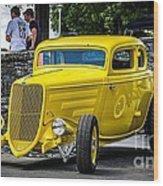 Yellow Rod Wood Print