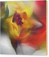 Yellow Rose Fantasy Wood Print