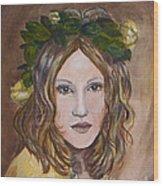 Yellow Rose I I Wood Print