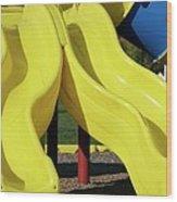 Yellow Slides Wood Print