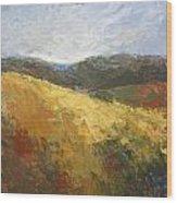 Yellow Slope II Wood Print