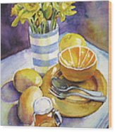 Yellow Still Life Wood Print by Susan Herbst