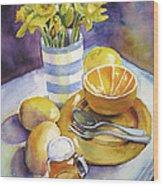 Yellow Still Life Wood Print