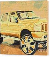 Yellow Suv Wood Print