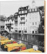 Yellow Tablecloths Wood Print