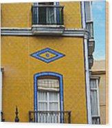 Yellow Tile Building In Cadiz Spain Wood Print
