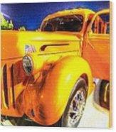 Yellow Truck 2 Wood Print