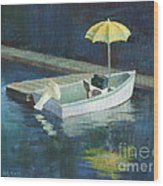 Yellow Umbrella Wood Print