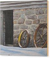 Yellow Whell Wood Print