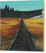 Yellowstone Boardwalk Wood Print