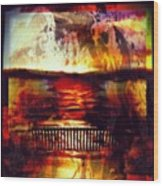 Yellowstone Hell (billirubin Remix) Wood Print