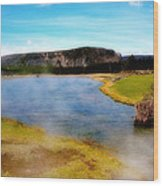 Yellowstone Landscape Wood Print