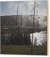 Yellowstone Morning Wood Print by Charles Warren