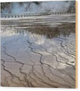 Yellowstone Reflection Wood Print