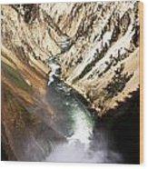Yellowstone River Below Lower Falls Wood Print