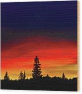 Yellowstone Sunset Wood Print by Bill Gracey