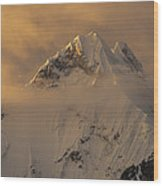 Yerupaja Summit Ridge 6617m At Sunset Wood Print