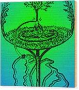 Yggdrasil From Norse Mythology Wood Print