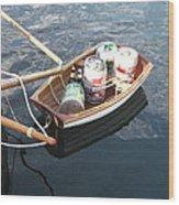 Yo Ho Ho And A Skiff Full Of Beer Wood Print