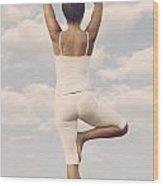 Yoga Wood Print by Joana Kruse