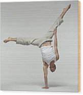 Yoga Pose Wood Print