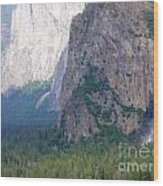 Yosemite Bridal Veil Fall Wood Print